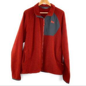 Men's REI Polartec Zip Up Sweatshirt
